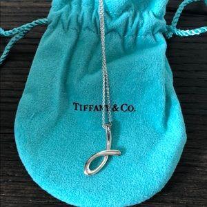 """Vintage Tiffany & Co - Elsa Peretti letter """"J"""""""